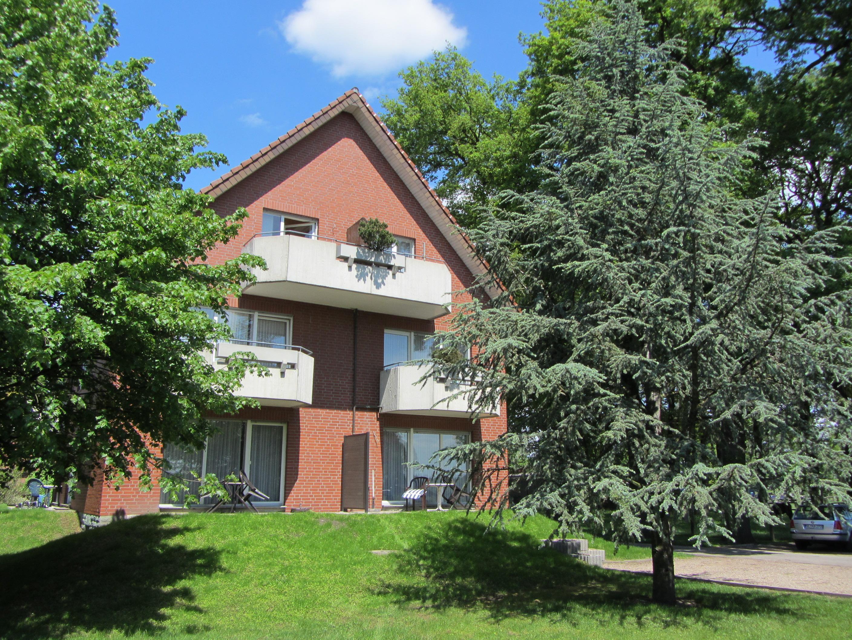 Terrassen und Balkone an der Südseite vom Hotel Pension & Appartement Haus Stallmeister in Lippstadt