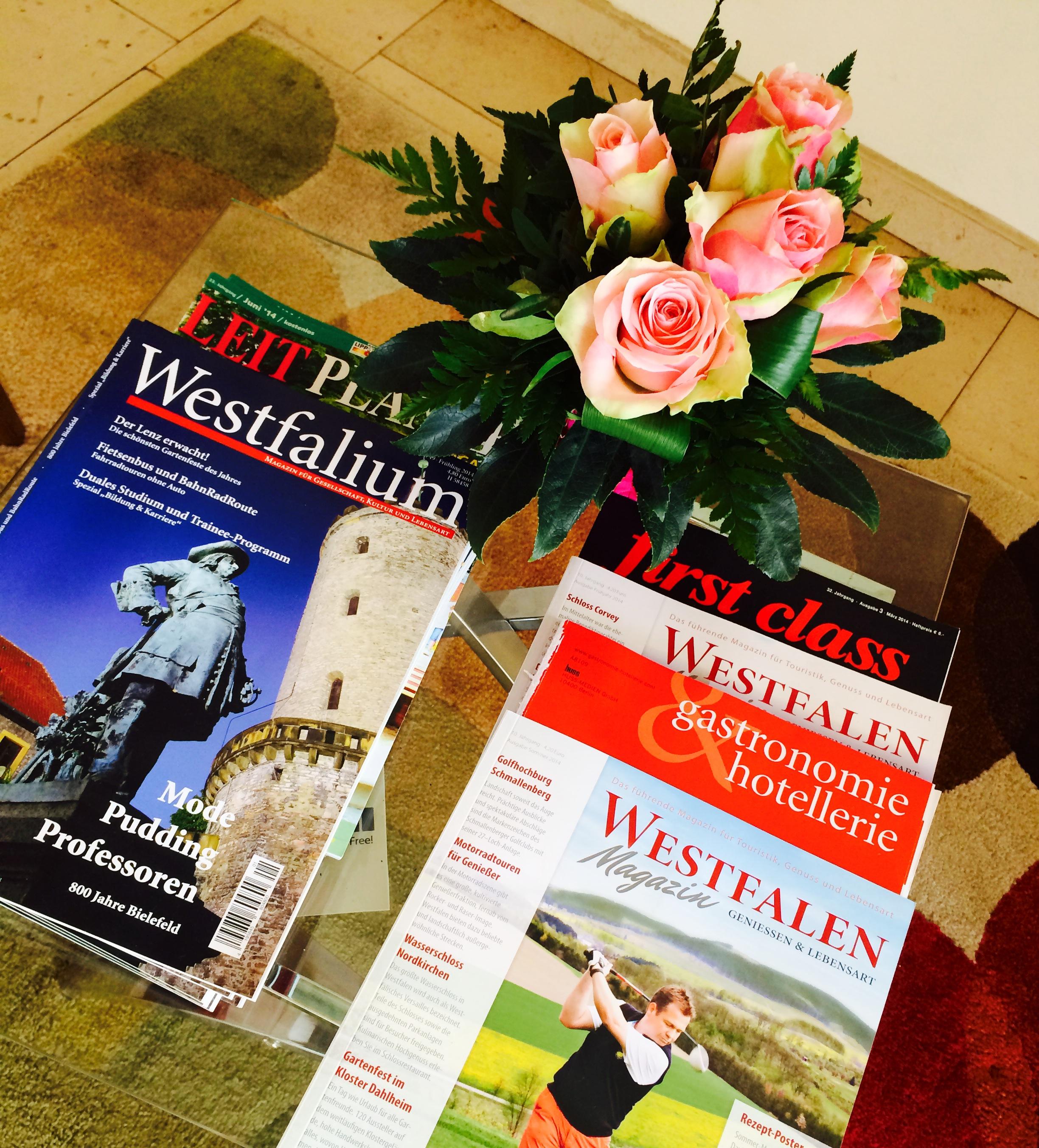 Auswahl an Lektüre im Hotel und Appartment Haus Stallmeister in Lippstadt Bad Waldliesborn