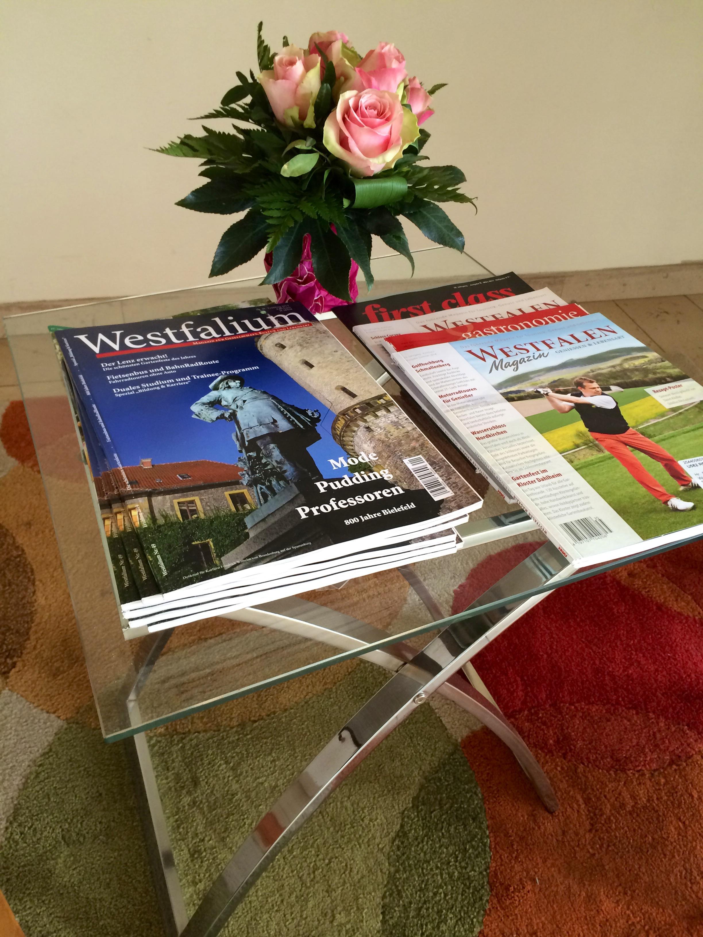 Lektüre im Hotel und Appartement Haus Stallmeister in Lippstadt