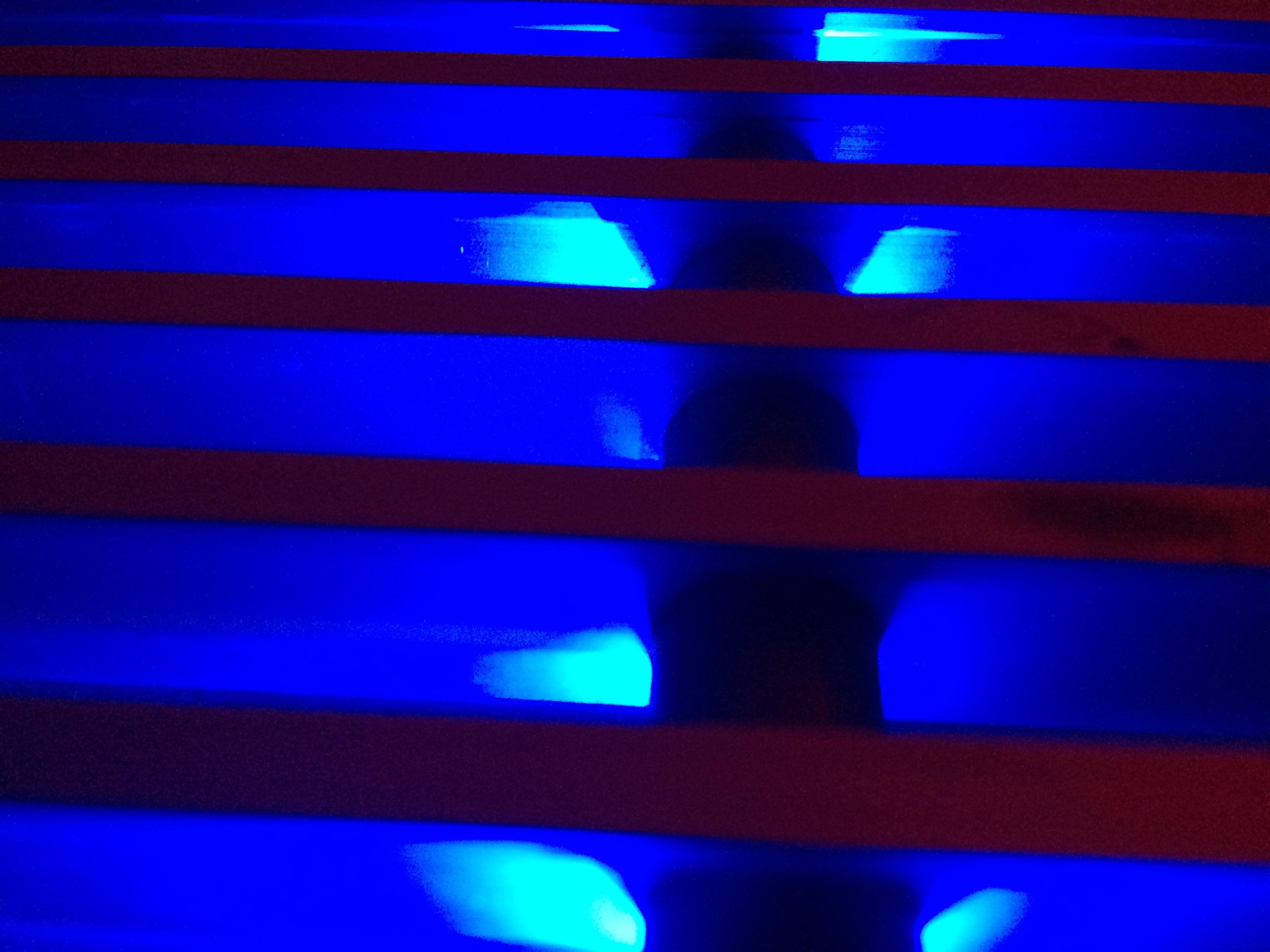 Hotel Pension Lippstadt Bad Waldliesborn Haus Stallmeister mit blauer Lichtkunst