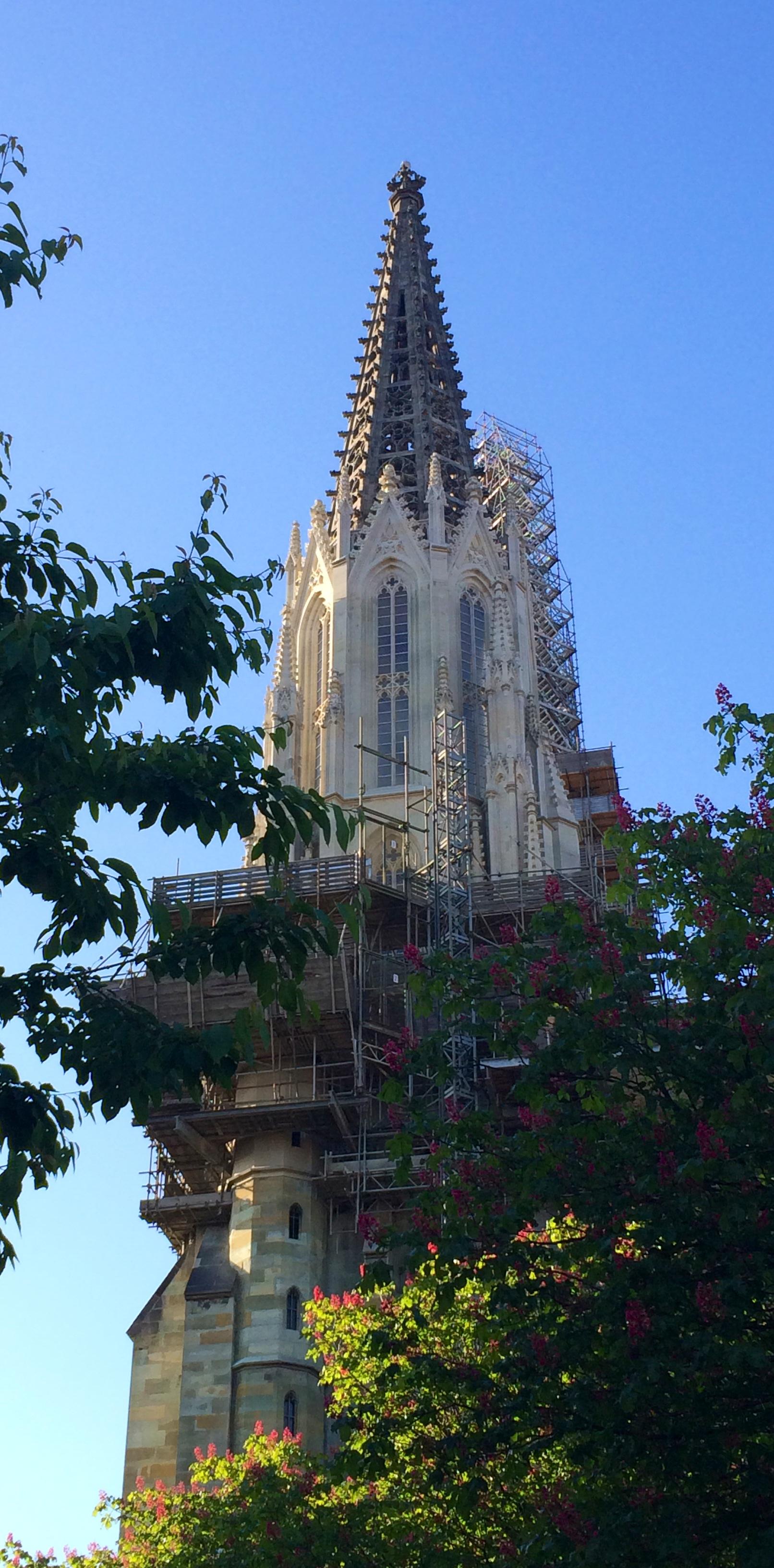 Gerüst am Kirchturm in Soest