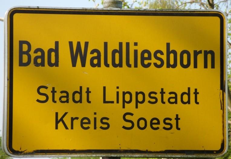 Ortsteil Bad Waldliesborn Lippstadt Ortseingangsschild