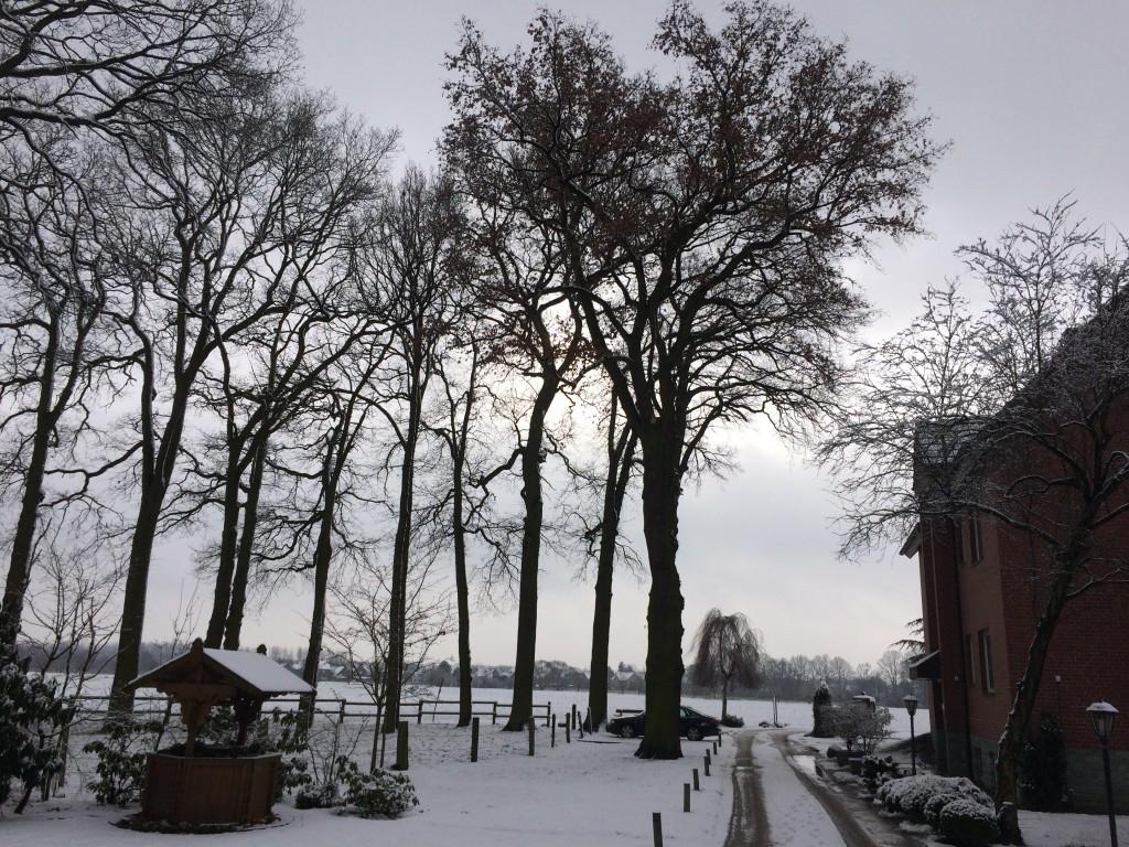 Haus Stallmeister im Schnee Anfahrt