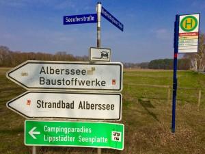 Schilder an der Seeuferstraße