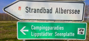 Hinweisschild Alberssee