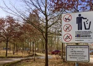 Schild am Badesee Lippstadt