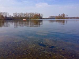 Badesee im Frühling in Lippstadt