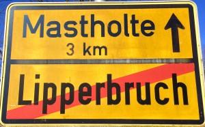 Lippstadt Lipperbruch Ortsausgangsschild