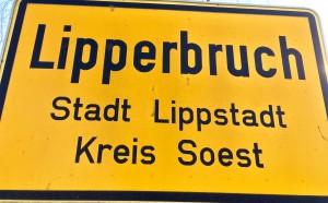 Lippstadt Lipperbruch Ortseingangsschild für Hotels
