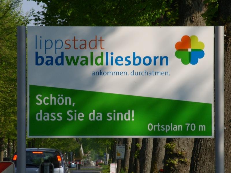 Termine Bad Waldliesborn Lippstadt Ortsschild mit Ortsplan