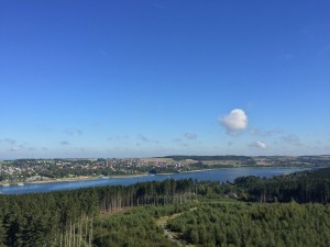 Aussicht zum Möhnesee vom Turm im Sauerland für Hotelgäste Lippstadt