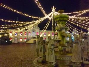 Bürgerbrunnen Lippstadt unter Lichtzelt