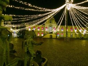 Lichtzelt Rathaus Bürgerbrunnen