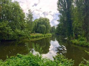 Grüner Winkel Lippstadt Lippe Fluss Wasser