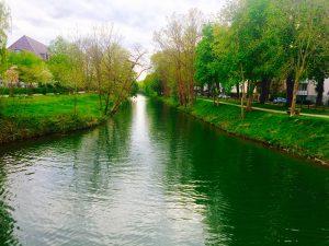 Lippe Kanal in der Nähe vom Hotel in Lippstadt
