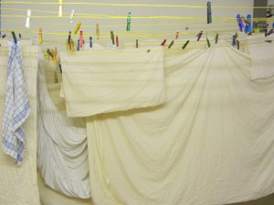 Frische Wäsche für Gäste im Hotel Haus Stallmeister