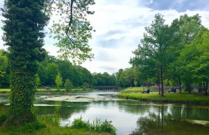 Park grüner Winkel im Sommer - Park für Hotelgäste in der Nähe der Lippstädter Innenstadt