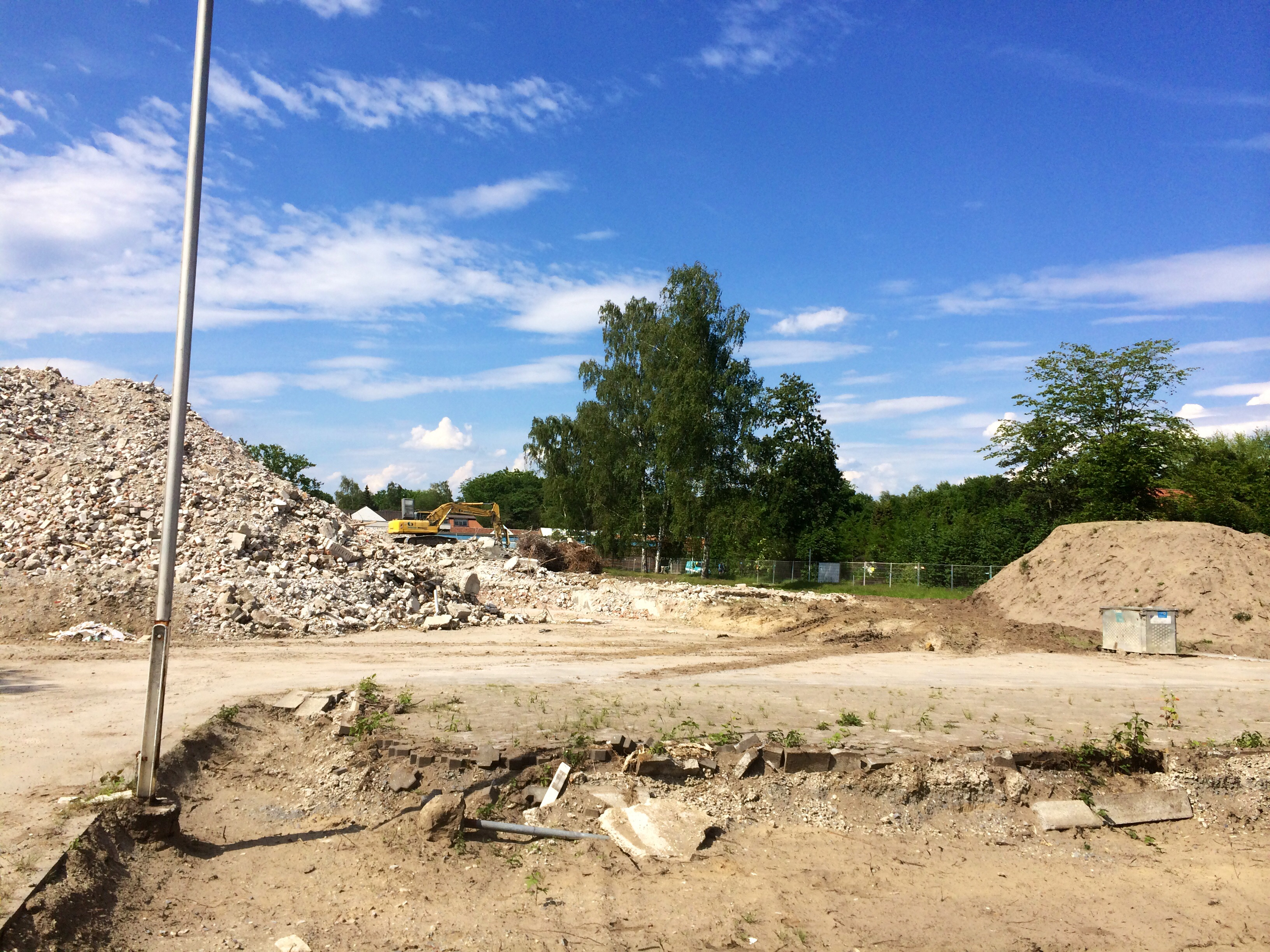 Schutthalde der Kreuzkampklinik Lippstadt Bad Waldliesborn