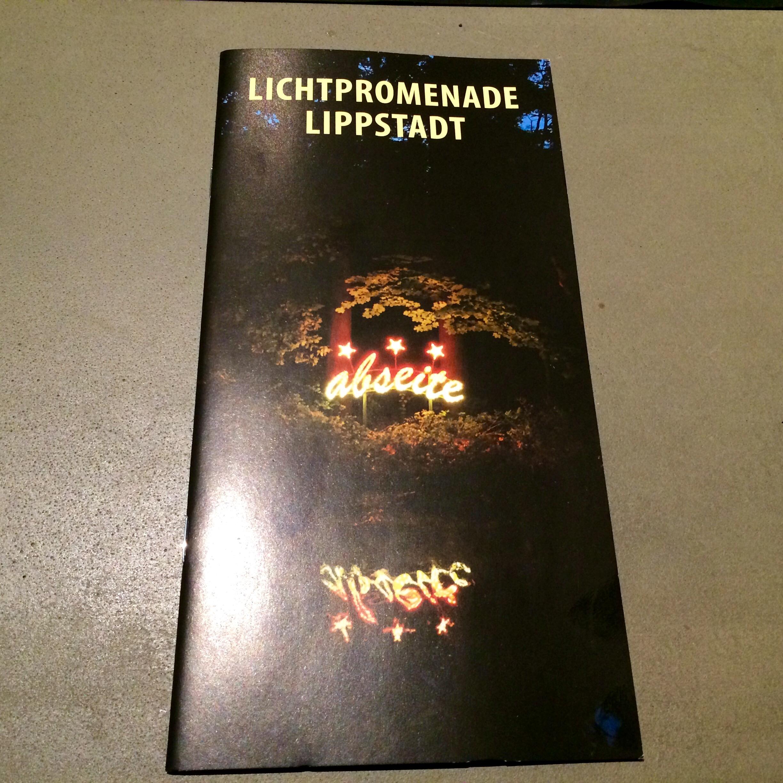 Lichtpromenade Lippstadt Flyer Hotelgäste
