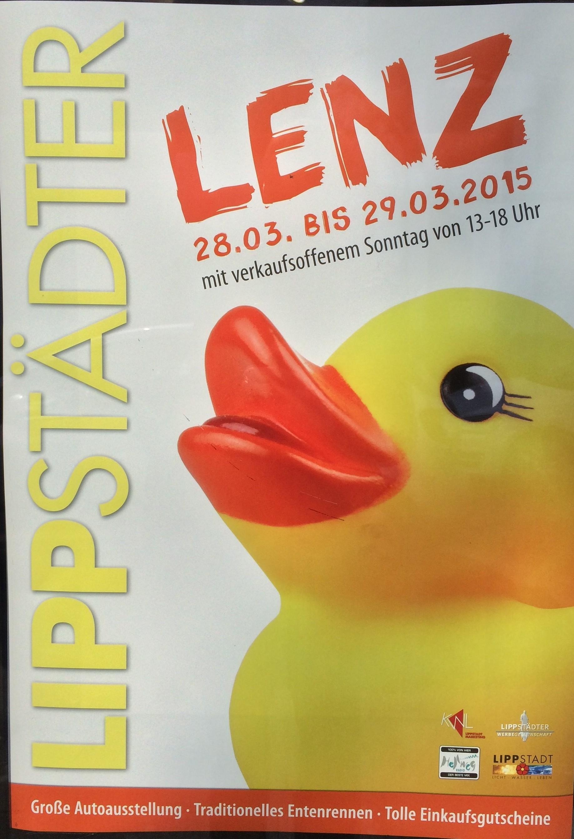 Lippstädter Lenz Lippstadt für Hotelgäste Plakat