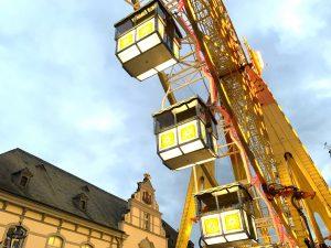Riesenrad vor dem Lippstädter Rathaus