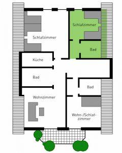 Doppelzimmer im Hotel Pension & Appartements Haus Stallmeisterin Lippstadt