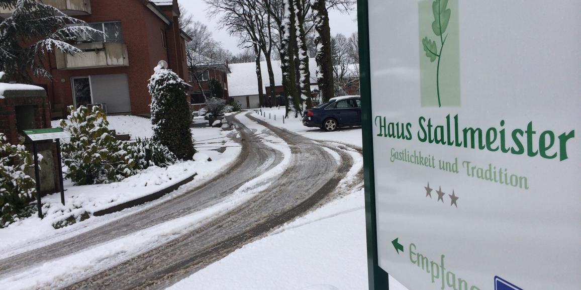 Schnee in Lippstadt Bad Waldliesborn Pension